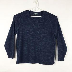 Bonobos Navy Blue Heather Merino Wool Sweater XXL